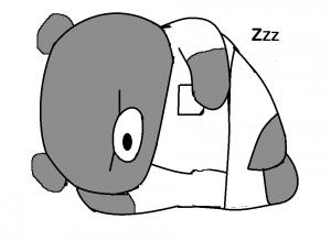 つきぐっちゃん昼寝